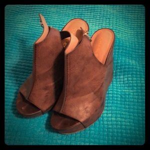 Charles by Charles David Brown Wedge Shoes